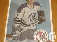 1971-72 O-Pee-Chee Posters Tim Horton #18 $25 two tape