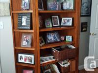 """Oak cabinet 3 tier shelf unit. Middle unit 72"""" high by"""