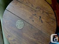 Solid Oak tabletop made from oak barrel. These tables for sale  British Columbia