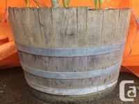 Half barrel - Oak Barrel Planters They currently