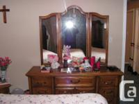 Bed & Headboard complete with Box Spring and Mattress ,