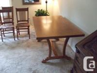 Custom made Oak table with Oak veneer plywood top.