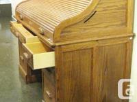 Oak double pedestal desk very good condition from an