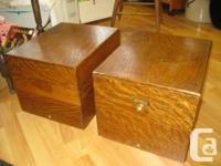 *** SALES - on - NOW *** Vintage oak filing boxes in