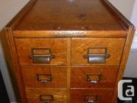 Moving so time to part with my antique Filing Cabinet.