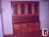 For Sale - Oak Hutch in good condition. Has glass