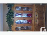 "Oak Hutch in excellent condition. The length: 63"","