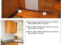 Oak Kitchen cabinets for sale. Cabinet doors are raised