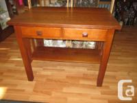Quarter cut oak library desk in excellent condition.