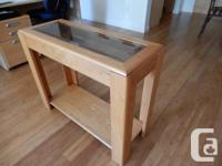 Solid Oak Living-room furniture. Coffee Table with four