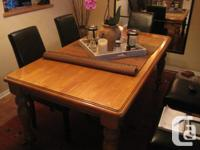 Large oak table in terrific disorder. Initially from