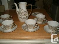 I have 4 tea cups with 5 plates and 1 tea pot missing