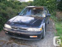 Make Honda Model Accord Year 1991 Colour BLUE kms