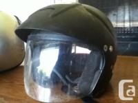 Open face with face screen Bell Helmet, used for about