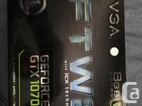 Brand new EVGA 1070 FTW2 w/ ICX cooler. Ordered from