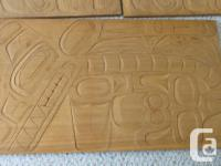 This is first time offered. These 4 panels, carved by