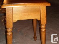 Small wooden table. Malaysian Mahogonay in Pecan color.