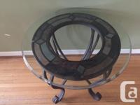 Oval Cocktail Table, 2 Round End Tables and 1 Sofa