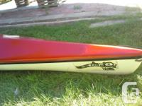 This is a custom 16 foot fibreglass ocean kayak. Built