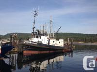 Ocean Warrior 62' Steel Tug 800HP CAT Engine, Runs
