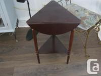 Octagon Glass Top Table, we use on our patio $99, also