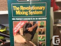 Odd job single mix cement mixer, mixes one bag at a