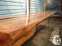 Selling off a demo live edge hall table. Was made for a