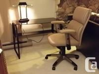 3 piece office / student unit leather office chair,