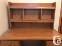 Great shape Office desk. 6 drawers and top shelf. 48 x