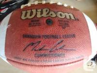 All leather regulation football and soccer ball. Paid