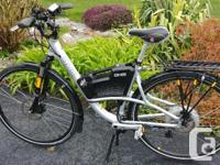 Powered by Bionx. Very fast and reliable bike. Pedal