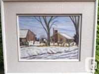 """Original framed oil on board entitled """"West Templeton,"""