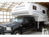 Both the Okanagan 117 DBL with two slides, sleeps 6 and