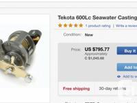 Shimao Tekota 600LC w//Line Counter. & Okuna CW 4530 w/