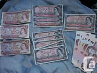 I have a bunch of old Canadian banknotes for sale. The
