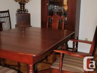 Old antique dining room set. Professionally refinished
