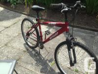 Here is an older Dunlop mountain bike The frame, brakes