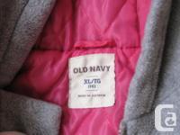 Old Navy Fleece Grey Toggle Coat xlarge size 14 in good