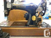 Old Singer Sewing Machine  We have an old Singer Sewing