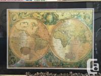 This is a very cool looking Old World Map a form of