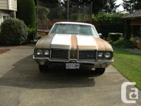 1972 Oldsmobile Cutlass Supreme. Back Tire Drive. 67