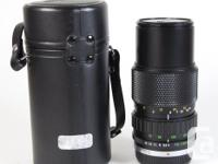 Olympus 70-150mm/4 zoom lens with front and rear