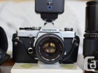 OM-1 with lock-up mirror. This camera is in good