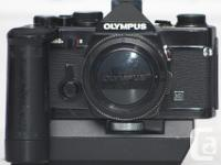 The Olympus OM-2N 35mm film SLR camera, compact and