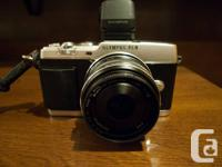 Olympus PEN E-P5 & VF-4 EVF (pictured lens not