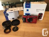 With original box. Olympus TG-4 16 MP Waterproof