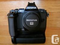 Olympus OM-D EM5 with HLD-6 electric battery grip,
