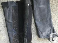 On Course Leather Half Chaps, sized medium, velcro