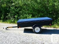 "NEW! 52"" x 88""Utility Trailer with Factory fitted tarp,"