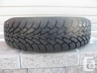 ONE (1) GOODYEAR NORDIC WINTER TIRE SIZE /175/70/14/